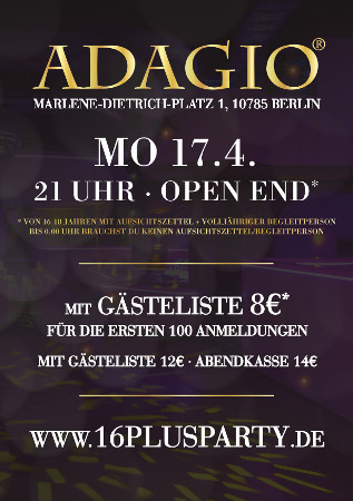 Adagio Club Berlin / Montag, 17. April 2017