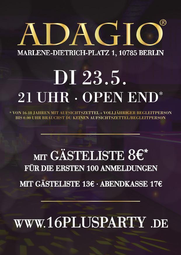 Adagio Club Berlin / Dienstag, 23. Mai 2017