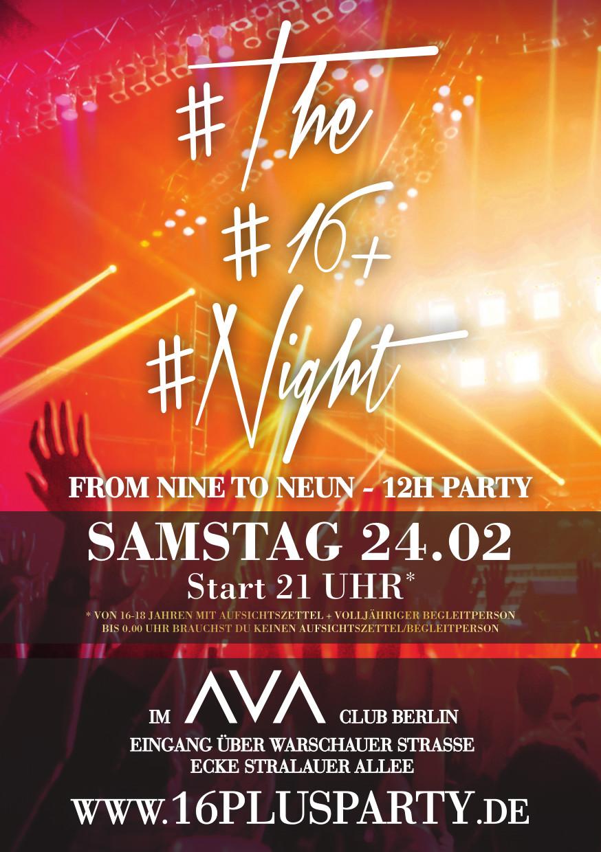 Ava Club Berlin / Samstag, 24. Februar 2018 / 21:00 Uhr