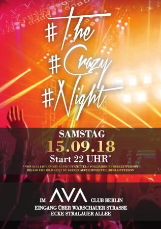 Ava Club Berlin / Samstag, 15. September 2018 / 22:00 Uhr