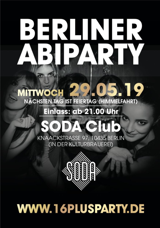 Soda Club  / Mittwoch, 29. Mai 2019 / 21:00 Uhr