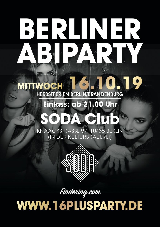 Soda Club Berlin / Mittwoch, 16. Oktober 2019 / 21:00 Uhr