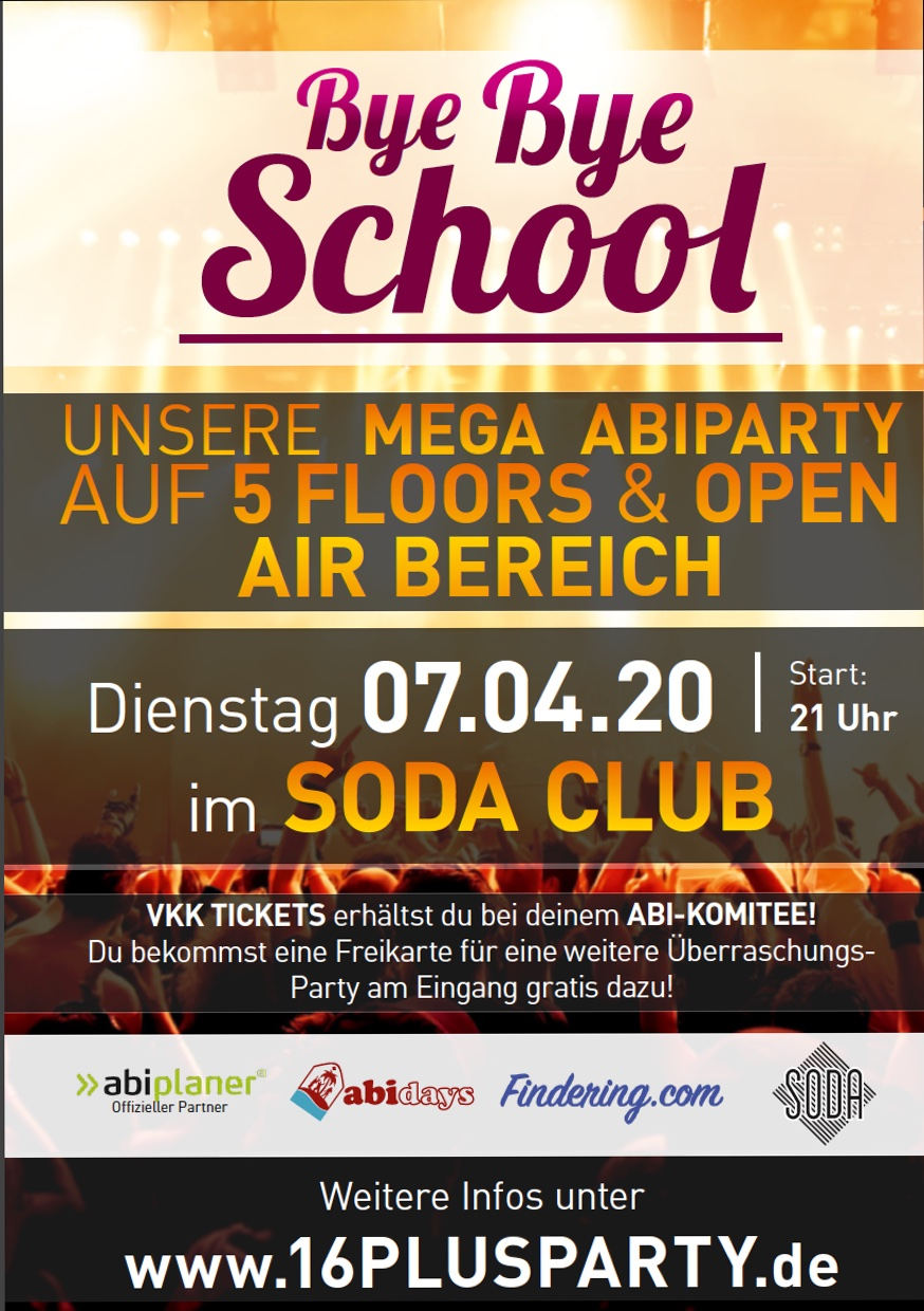 Soda Club Berlin / Dienstag, 7. April 2020 / 21:00 Uhr