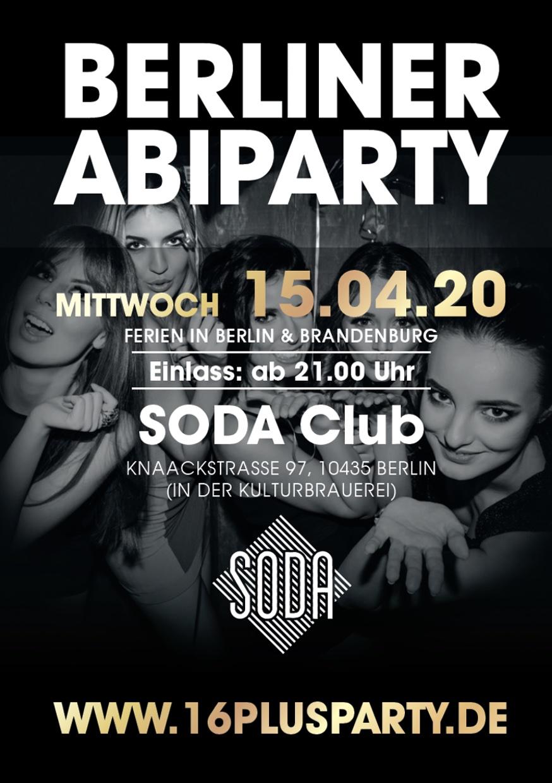 Soda Club Berlin / Mittwoch, 15. April 2020 / 21:00 Uhr