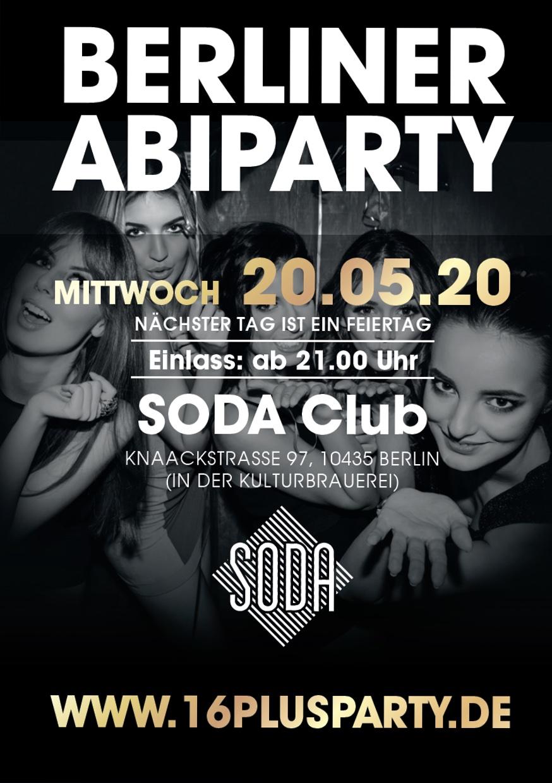 Soda Club Berlin / Mittwoch, 20. Mai 2020 / 21:00 Uhr