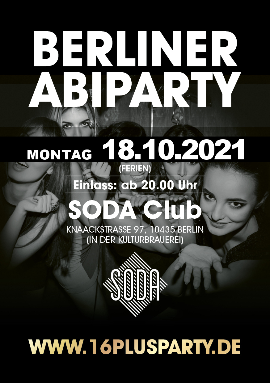 Soda Club Berlin / Montag, 18. Oktober 2021 / 20:00 Uhr